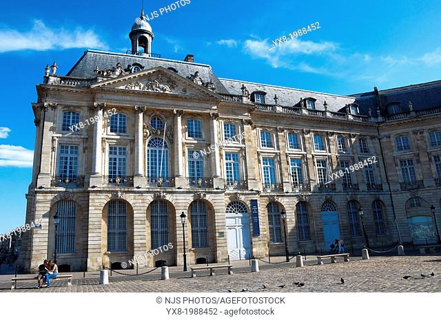 Area listed as World Heritage by UNESCO, Place de la Bourse, Stock Exchange, Bordeaux, Gironde, Aquitaine, France, Europe