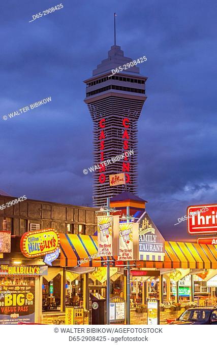 Canada, Ontario, Niagara Falls, Clifton Hill and Casino Tower