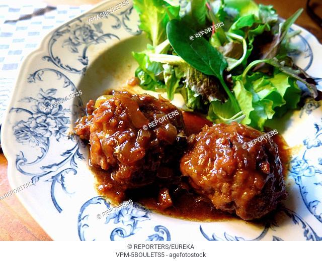 Boulets from Liege,belgian gastronomy;boulets a la Liegeoise;Luikse vleesballen Reporters / EUREKA