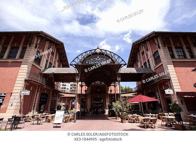 S'Escorxador, old slaughterhouse, now a cultural and shopping centre. Palma, Balearic Islands, Spain