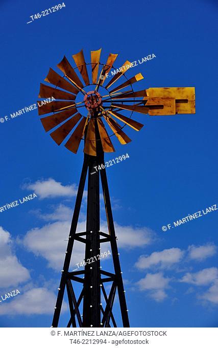 Windmill. Madrid province, Spain