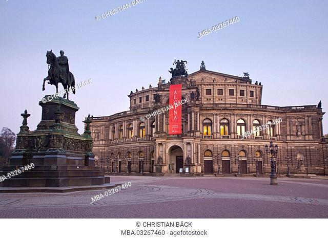 Semper opera in the Old Town, Dresden, Saxon, Germany