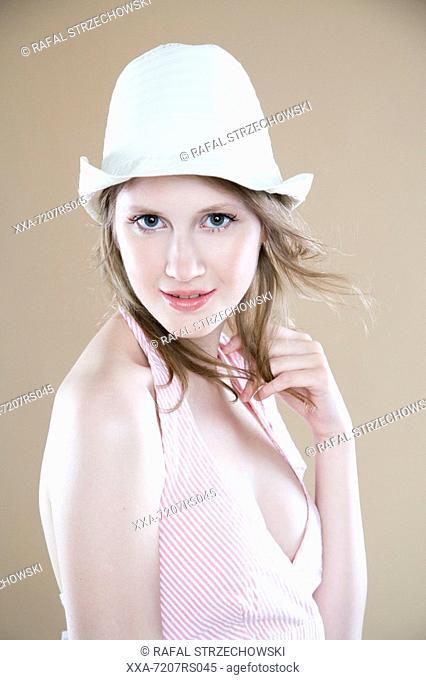 Portrait of a woman in hat