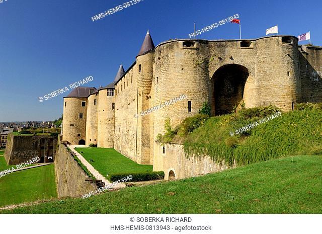 France, Ardennes, Sedan, castle, ramparts