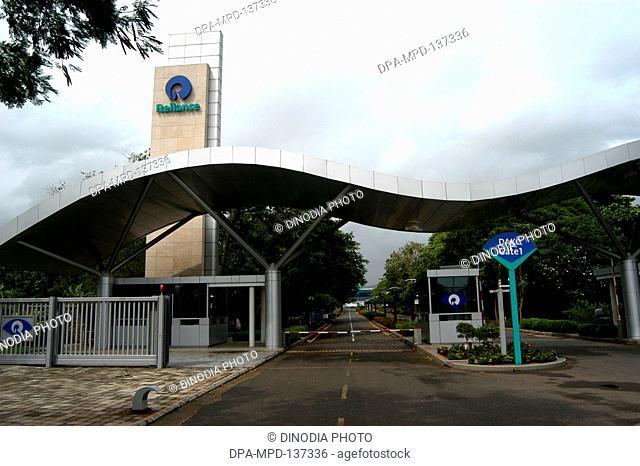 Main gate of headquarters of Reliance Infocomm now Reliance Communication at Dhirubhai Ambani Knowledge City at Kopar Khairne in Navi Mumbai; Maharashtra; India