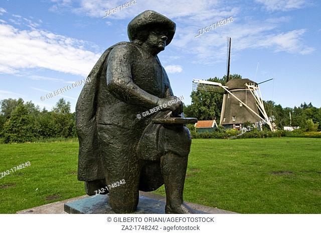 Amsterdam Amstel Park, Rembrandt statue