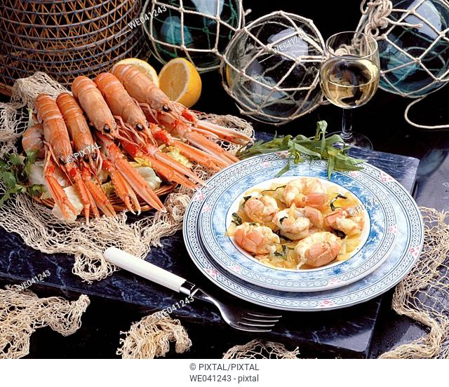 Lobsters with tarragon