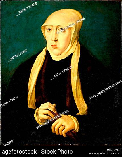 Mary (1505-1558), Queen of Hungary. Artist: Copy after Jan Cornelisz Vermeyen; Medium: Oil on wood; Dimensions: 21 1/2 x 18 in. (54.6 x 45