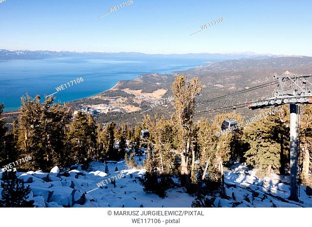 Heavenly Mountain Resort is a ski resort located on the California-Nevada border in South Lake Tahoe