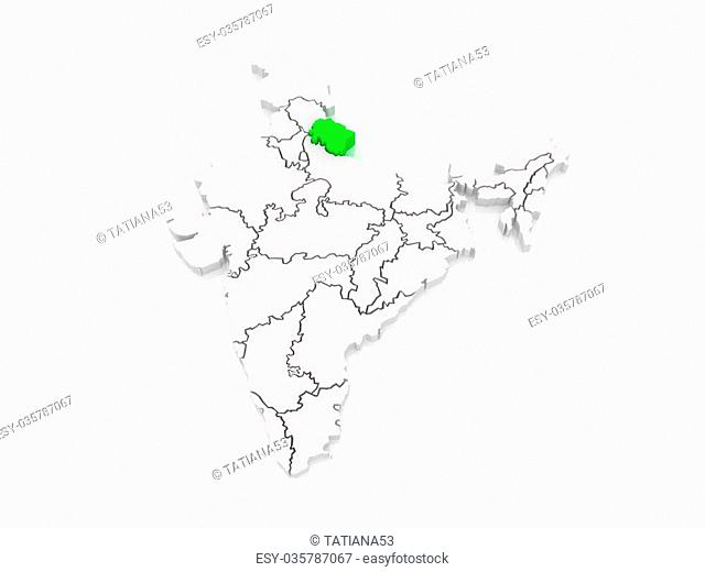 Map state uttarakhand Stock Photos and Images | age fotostock