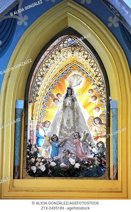 Detail Virgen del Valle in church maragarita island Venezuela