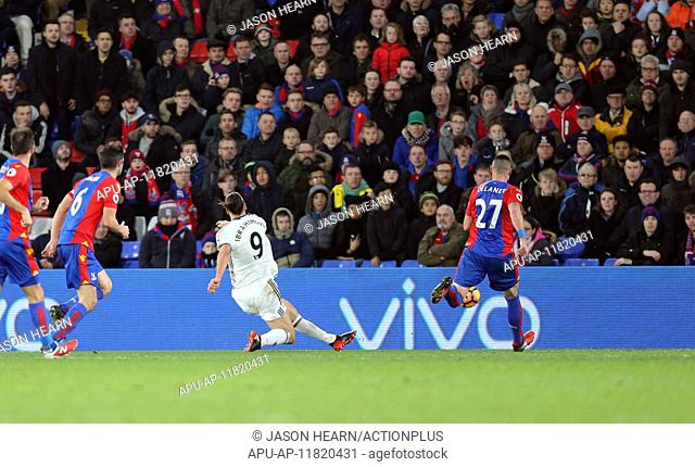 2016 Premier League Football Crystal Palace v Manchester United Dec 14th. 14.12.2016. Selhurst Park, London, England. Premier League Football