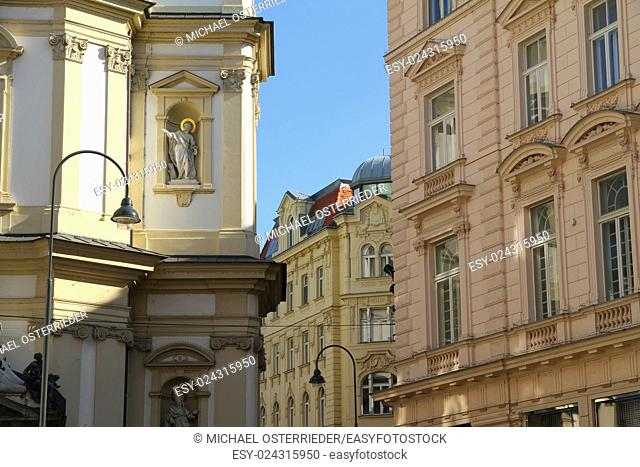 Historic Architecture in the center of Vienna, Austria, Europe