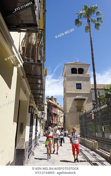 Malaga, Costa del Sol, Spain. Palacio de los Condes de Buenavista in Calle San Agustin which houses the Picasso Museum