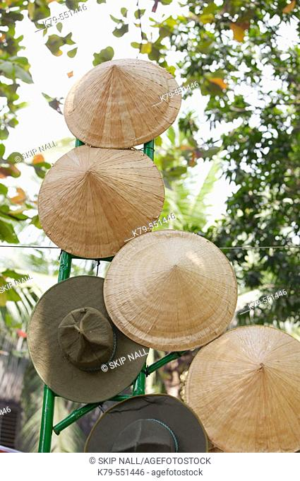 Asian hats for sale in Saigon