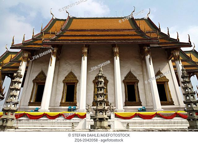 The Temple Wat Suthat in Bangkok, Thailand