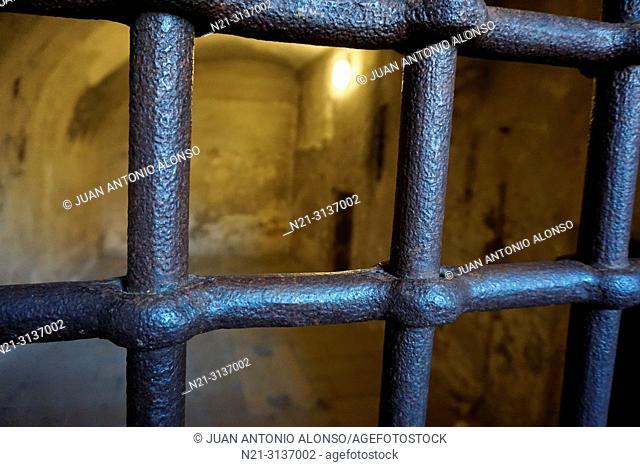 Prison cell bars. Palazzo Ducale, Venice, Veneto, Italy, Europe