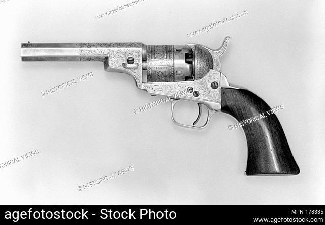 Wells Fargo Colt Revolver. Date: ca. 1851; Geography: New York City, New York; Culture: American; Medium: Steel, silver, wood (mahogany); Dimensions: L