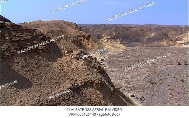 Aerial footage of Tsuk Tsinim at the Negev Desert