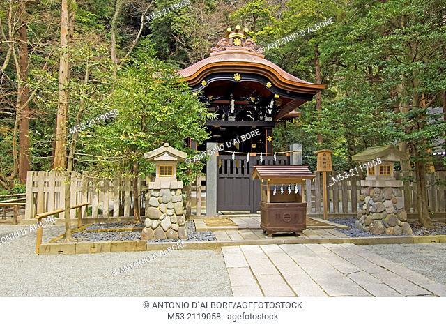 the shirahata sub-shrine. tsurugaoka hachimangu shrine. kamakura city. kanagawa prefecture. kanto region. japan