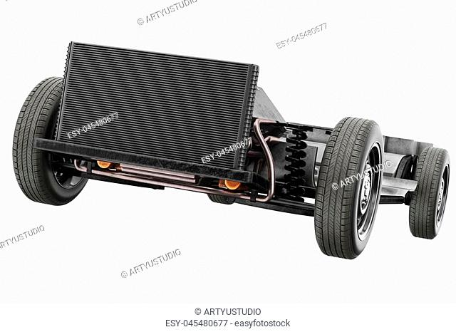 Chassis frame car with wheel Stock Photos and Images | age