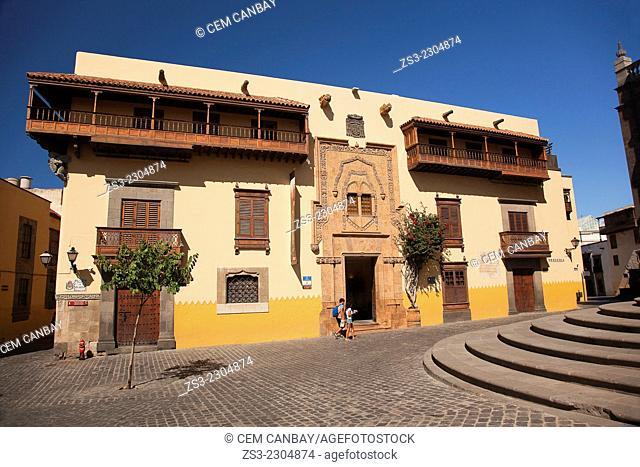 Columbus House-Casa de Colon in Vegueta neighborhood, Las Palmas de Gran Canaria, Canary Islands, Spain, Europe