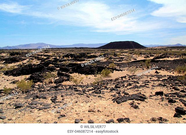 Amboy Crater off of Route 66 in the State of Cailfornia