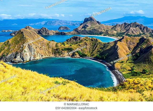 View of Islands from a hill in Padar Island