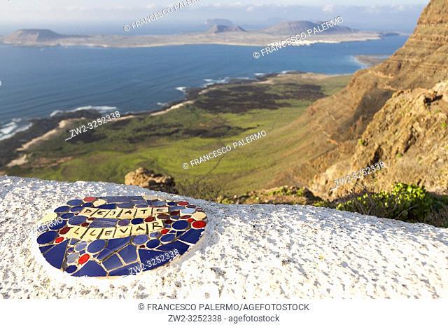La Graciosa Island panorama. Mirador del Rio, Lanzarote. Spain