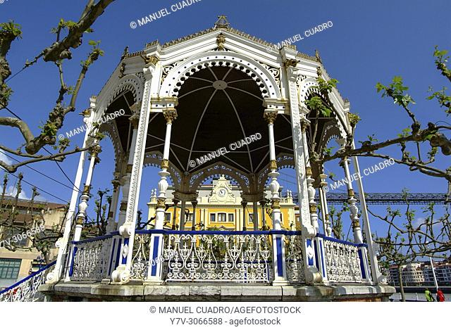 Bandstand. Portugalete, Biscay, Basque Country, Spain
