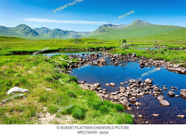 United Kingdom, Scotland, Highland, Ballachulish, Moor of Rannoch