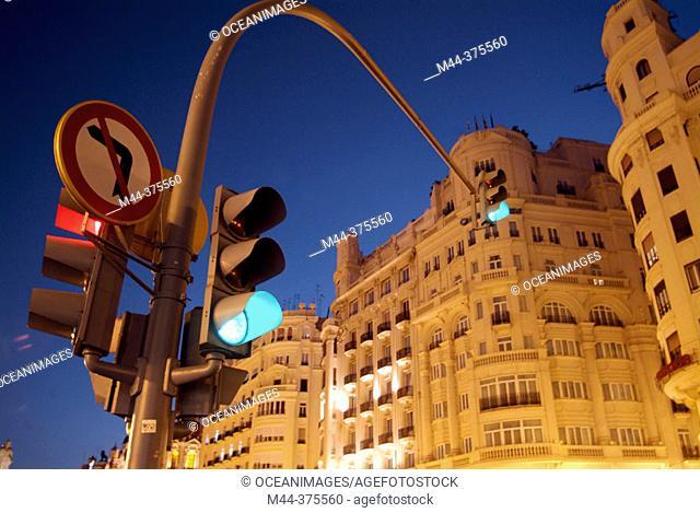 Plaza del Ayuntamiento. Valencia. Spain