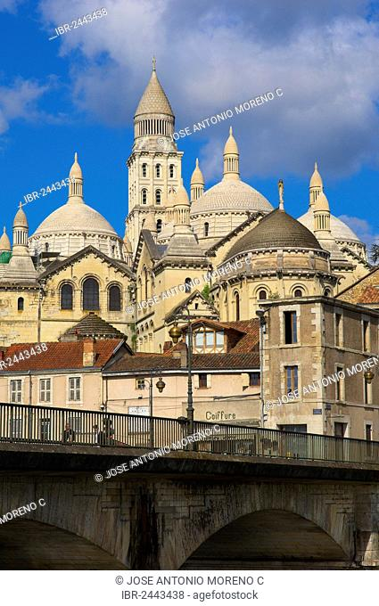 Saint Front Cathedral, World Heritage Site of the Routes of Santiago de Compostela in France, Perigueux, Perigord Blanc, Dordogne, Aquitaine, France, Europe