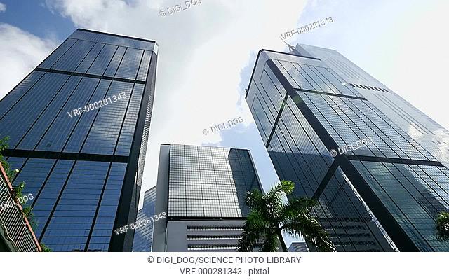 Modern skyscrapers, Hong Kong, China