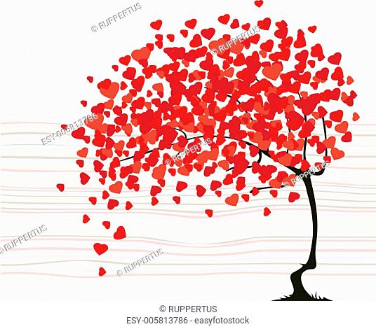Valentine's day abstract with tree