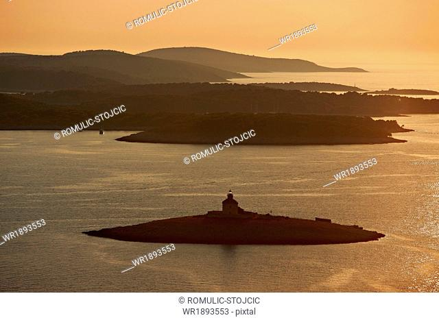 Lighthouse, Pakleni Otoci, Archipelago, Adriatic Sea, Dalmatia, Croatia