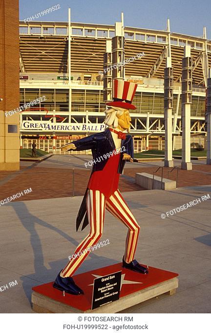 Cincinnati, OH, Ohio, Great American Ball Park, Grand Sam, Batsincredible sculptures, baseball stadium