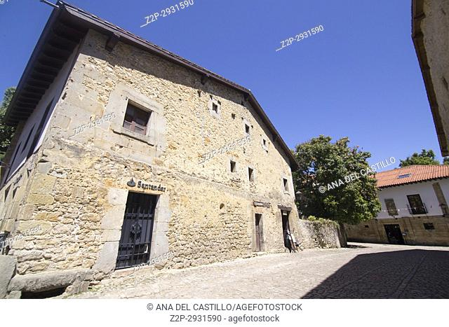 Santillana del Mar is one of the most beautiful villages in Spain Cantabria on July 2, 2017