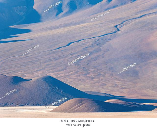 The mountains of the Altiplano near village Tolar Grande in Argentina close to the border to Chile. South America, Argentina
