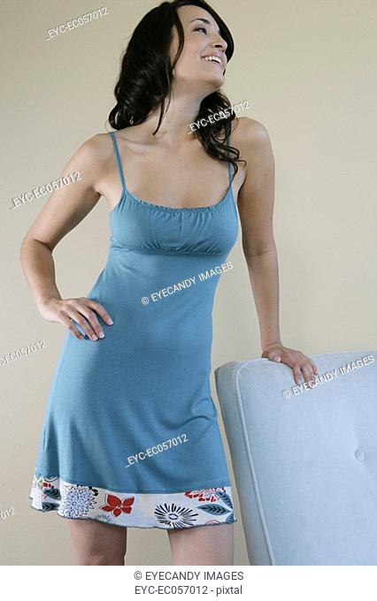 Young woman posing in sleepwear