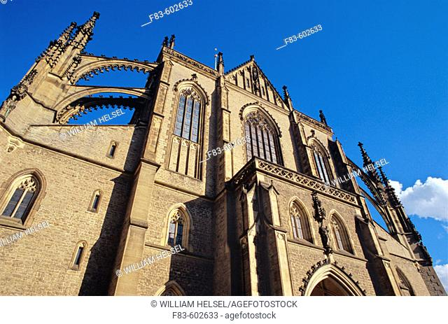 From the late 13th to late 16th centuries Kutna Hora was a rich silver mining town. St. Barbara's Cathedral, dedicated to the patron saint of miners