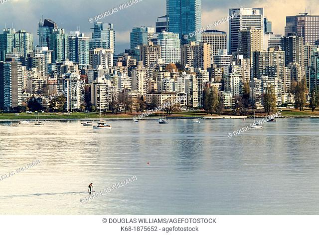 downtown Vancouver skyline from west of Kitsilano Beach