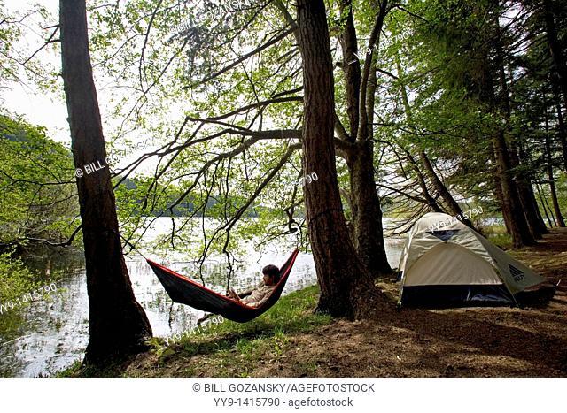 Tent and Hammock - Moran State Park, Orcas Island, Washington