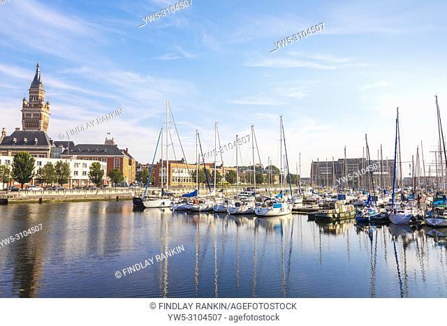 Yacht marina and quayside, Dunkirk, France