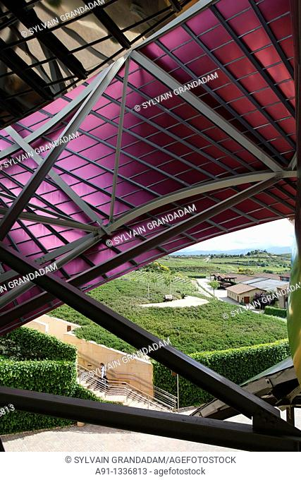 Spain, Basque Province Euskad, La Rioja Alavesa, Elciego, luxury Hotel and spa Marques de Riscal, built within the vineyards and close to the cellars