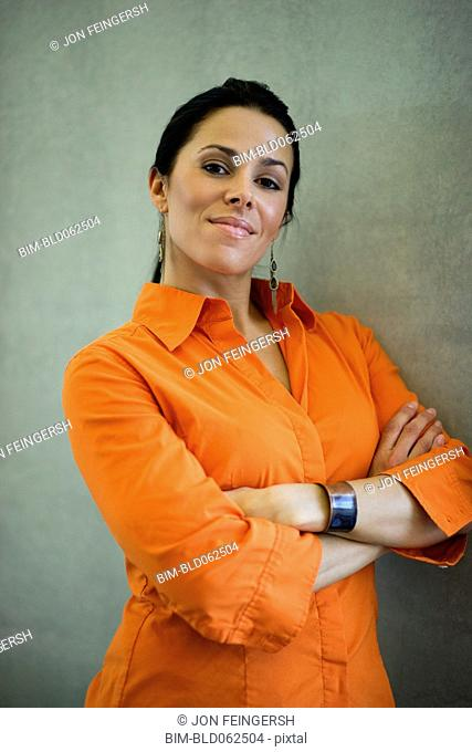 Latin American businesswoman looking confident