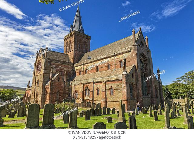 St. Magnus Cathedral, Kirkwall, Mainland, Orkney islands, Scotland, UK