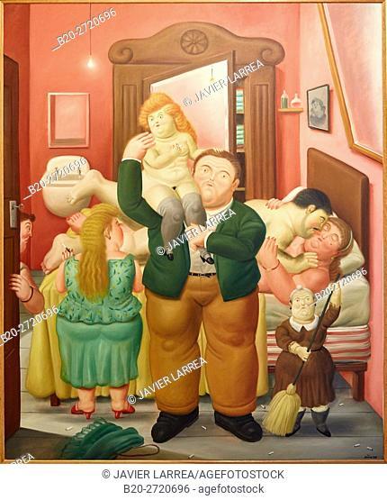 """""""The House of Amanda Ramírez"""", 1988, Fernando Botero, Museo de Antioquia, Medellin, Antioquia, Colombia"""