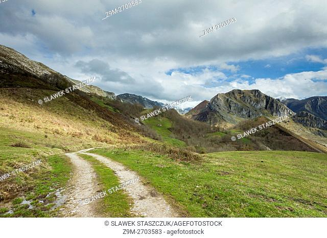 Spring afternoon in Picos de Europa National Park near Amieva, Asturias, Spain