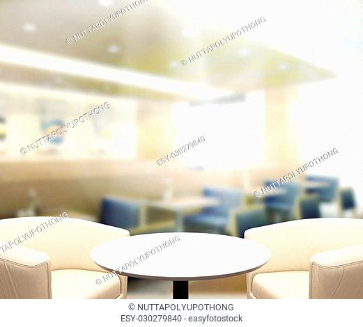 Table Top And Blur Interior of of Background